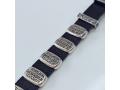 Десять заповедей кожаный браслет с серебром арт. Б1