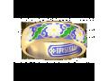 Православное колечко с горячей эмалью ромашки арт. 15.212