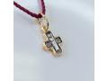Ангел Господен арт 17.078 подвеска серебряная с позолотой