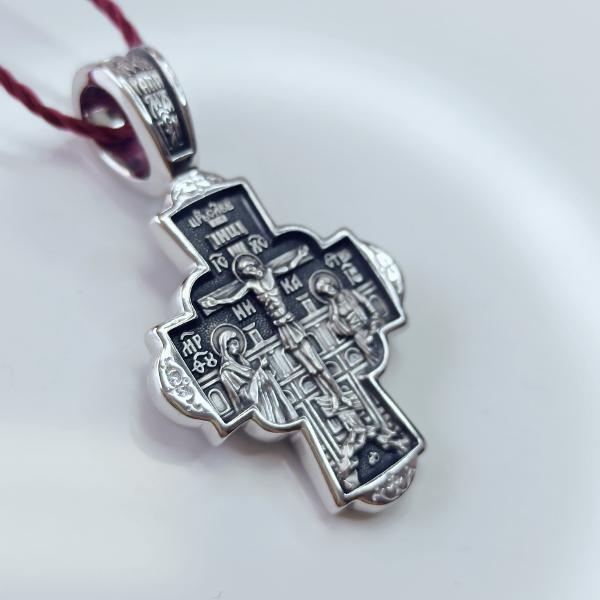 Крест православный «Воскресение Христово» серебряный