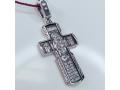 Крест православный Целители Икона Божией Матери Всецарица серебряный с родием 17.014р