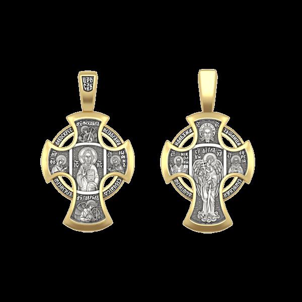 Крест православный «Деисус. Ангел Хранитель» БОЛЬШОЙ