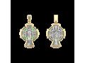 Крест православный «Деисус. Ангел Хранитель» витражная эмаль