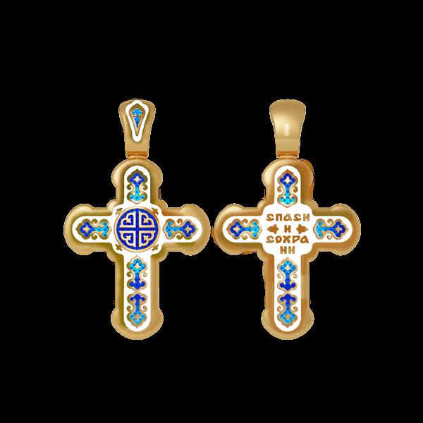 Крест православный  Лилии. «Спаси и сохрани»