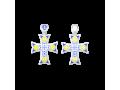 Крест православный с горячей эмалью