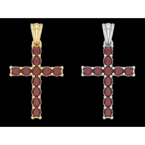 Крест православный с гранатами большой
