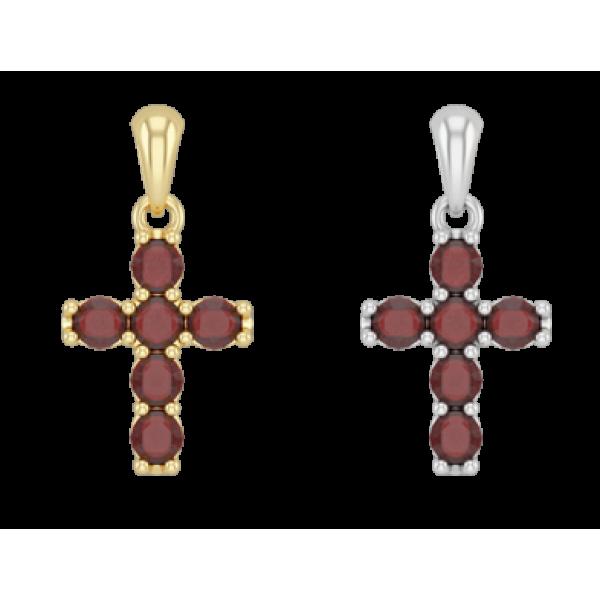 Крест православный с гранатами малый