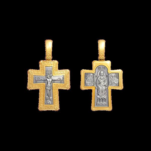 Крест «Распятие. Киево-Печерская икона Божией Матери»