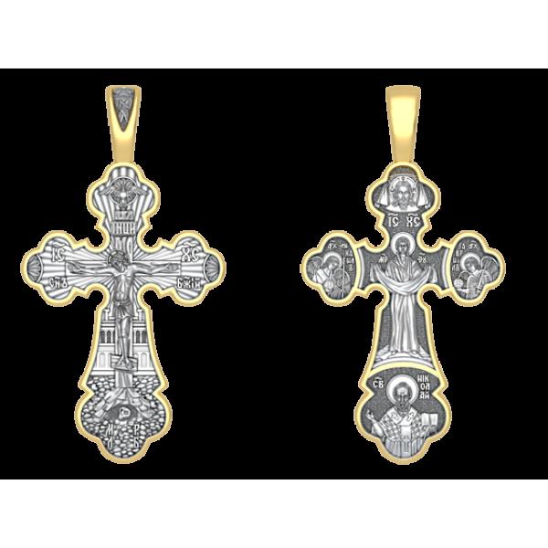 Крест Распятие. Покров Божией Матери (большой)