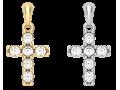 Крест с  фианитами (малый)