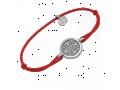 Браслет на красной нитке Ангел Хранитель 50.003 тонкий серебряный
