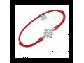 Браслет на красной нитке вифлиемская звезда 50002 тонкий серебряный