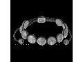 Православный браслет 10 заповедей серебряный на черном шнурке