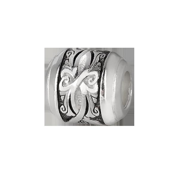 Серебряная бусина Вьюнок