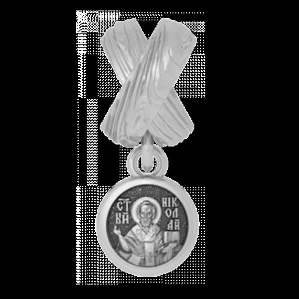 Бусина Андреевский крест и Николай Чудотворец