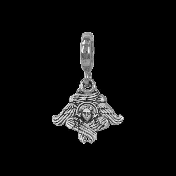 Бусина Серафим серебряная