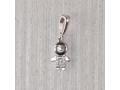 Бусина-шарм из серебра мальчик