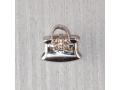 Бусина-шарм из серебра сумочка