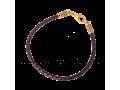 Кожаный браслет плетеный фиолетовый