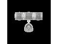 Набор серебряных шармов с молитвой Матроне Московской