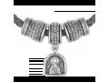 Серебряный набор шармов с молитвой Луке Крымскому