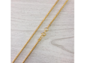 Серебряная с позолотой цепочка колос