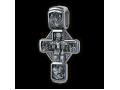 Распятие Христово с предстоящими. Святая Троица. Св. Георгий. Николай Чудотворец. Архангелы Гавриил и Михаил. Владимирская икона Божией Матери. Православный крест.