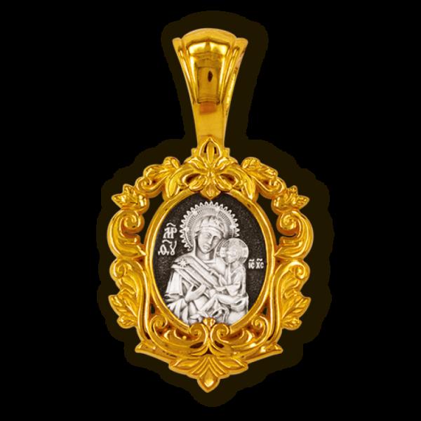 Тихвинская икона Божией Матери. Образок.