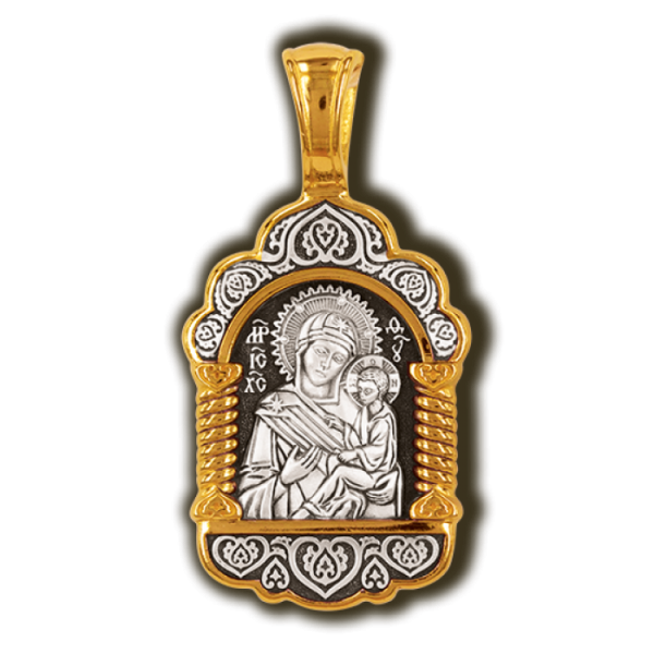 Тихвинская икона Божией матери. Образок