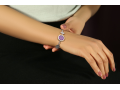 Браслет Архангел Гавриил бриллианты, голубой кварц (арт.617.09.08-22.28)