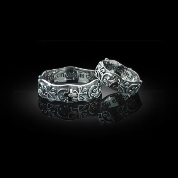 Кольцо православное Вербное Воскресенье бриллиант (арт.563.04.08)