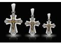 Крест нательный образ Божией Матери Игуменья горы Афон (Экономисса) (арт.682.05.00.73)