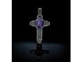 Крест нательный Спас Нерукотворный голубой кварц (арт.547.04.22.02)