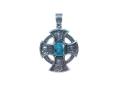 Крест нательный Спас Нерукотворный голубой кварц (арт.735.04.22.02)