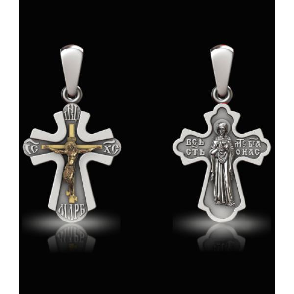 Крест нательный СВ.М.Ирина (арт.682.05.00.37)