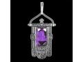 Подвеска Хоругвь икона Божией Матери Казанская аметист (арт.651.04.20.05)