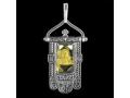 Подвеска Хоругвь икона Божией Матери Казанская цитрин (арт.651.04.25.05)