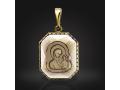 Подвеска Нательная икона Божией Матери Казанская раухтопаз (арт.727.12.08-24.05)
