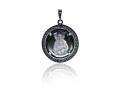 Подвеска Нательная икона Божией Матери Валаамская бриллиант, раухтопаз (арт.612.04.08-24.22)