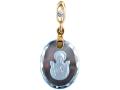 Подвеска Нательная икона Божией Матери Знамение бриллиант, голубой топаз (арт.316.12.08-48.20)
