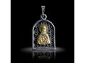 Подвеска Нательная икона Преподобный Давид Серпуховской бриллиант (арт.631.05.08.44)