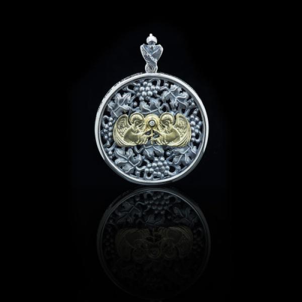 Подвеска Нательная икона Рождественская звезда бриллиант (арт.600.05.08.58)