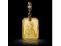 Подвеска Нательная икона Святая Блаженная Матрона Московская бриллиант, цитрин (арт.318.12.08-25.47)