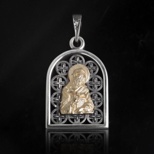 Подвеска Нательная икона Святитель Спиридон Тримифунтский бриллиант (арт.629.05.08.40)