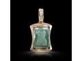 Подвеска Нательная икона Святой Преподобный Сергий Радонежский бриллианты, зеленый кварц (арт.249.11.08-23.43)