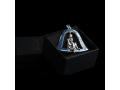 Ёлочная игрушка Рождественский Ангел бриллиант (арт.799.05.08.58) эмаль синяя