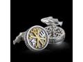 Запонки православные Хризма бриллиант (арт.624.05.08.55)