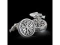 Запонки православные Хризма бриллианты (арт.624.04.08.55)