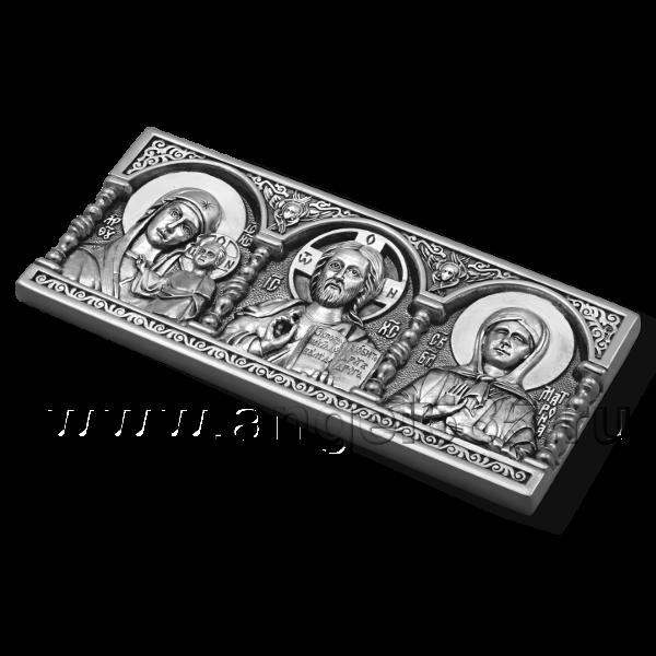 Дорожная икона с Матроной Московской серебро