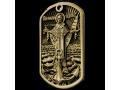 Армейский жетон из желтого золота морской. Николай Чудотворец.